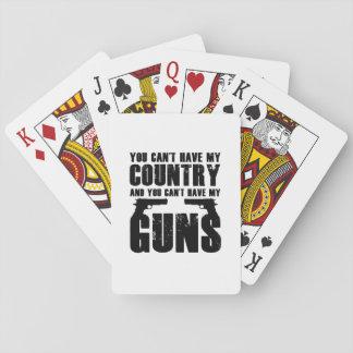 Jeu De Cartes Mon cadeau frais drôle de 2 amendements d'arme à