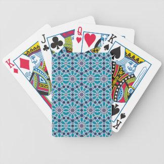 Jeu De Cartes Motif abstrait dans bleu et gris