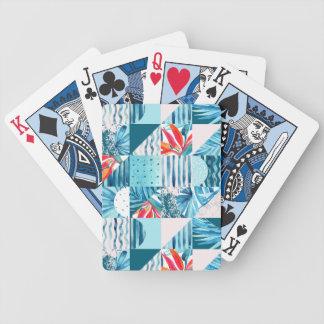 Jeu De Cartes Motif abstrait géométrique turquoise tropical