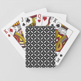Jeu De Cartes Motif blanc de lignes et de blocs de carré noir