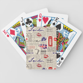 Jeu De Cartes Motif de journal de Londres