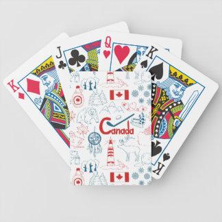 Jeu De Cartes Motif de symboles du Canada |