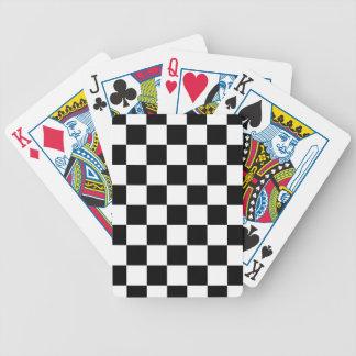 Jeu De Cartes motif d'échiquier noir et blanc