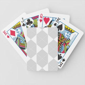 Jeu De Cartes Motif géométrique abstrait - gris et blanc