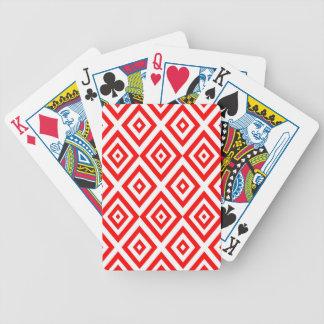Jeu De Cartes Motif géométrique abstrait - rouge et blanc