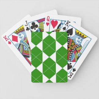 Jeu De Cartes Motif géométrique abstrait - vert et blanc