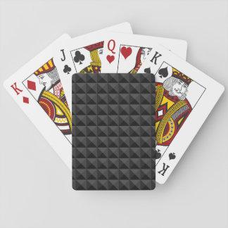 Jeu De Cartes Motif géométrique moderne de carré noir
