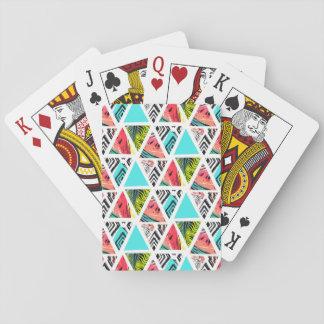 Jeu De Cartes Motif tropical abstrait coloré