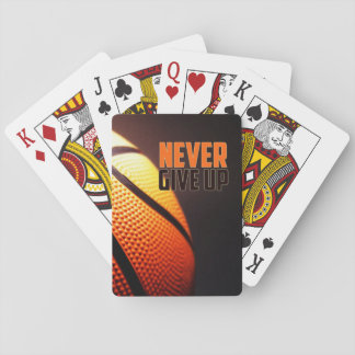 Jeu De Cartes Motivation de basket-ball - n'abandonnez jamais