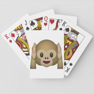 Jeu De Cartes N'entendez aucun singe mauvais - Emoji