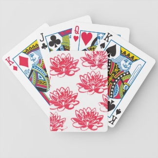 Jeu De Cartes Nénuphars rouges
