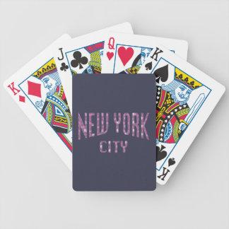 Jeu De Cartes New York City sur le rose de rose de ressort