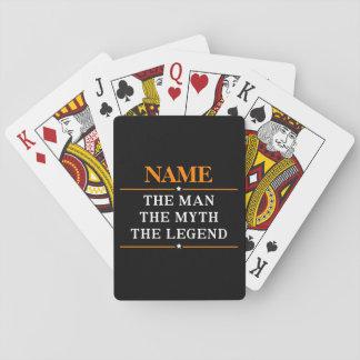 Jeu De Cartes Nom personnalisé l'homme le mythe la légende