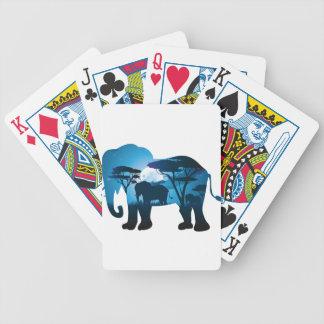 Jeu De Cartes Nuit africaine avec l'éléphant 6