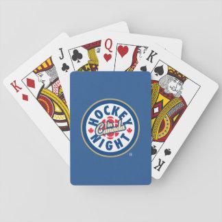 Jeu De Cartes Nuit d'hockey dans le logo du Canada
