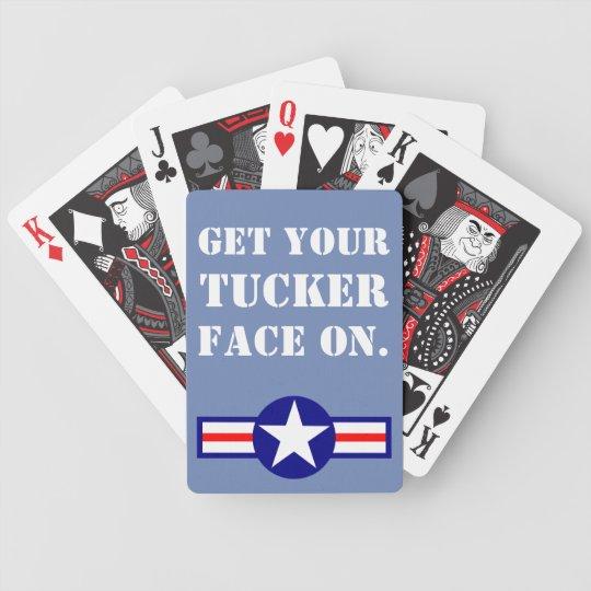 Jeu De Cartes Obtenez votre Tucker font face dessus.  Édition de
