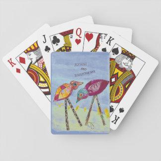 Jeu De Cartes Oiseau sur des cartes de jeu de volière