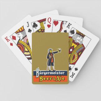 Jeu De Cartes Paquet de cartes de jeu de bière de Burgermeister
