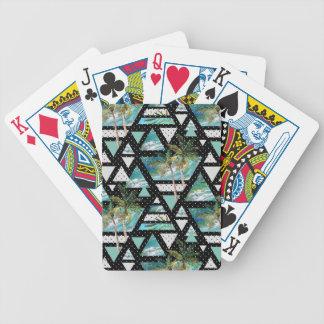 Jeu De Cartes Paumes géométriques abstraites et motif de vagues