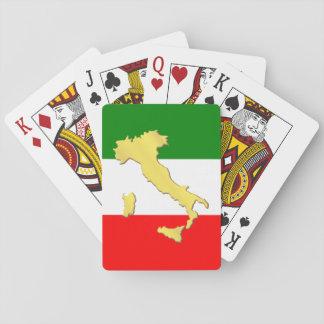 Jeu De Cartes Pays d'or de l'Italie Tricolore d'Italien de