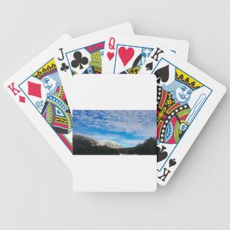 Jeu De Cartes Paysage blanc de ciel bleu de montagne