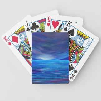 Jeu De Cartes Paysage marin abstrait de bleu et de pourpre