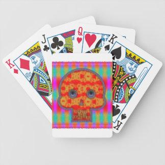 Jeu De Cartes Peinture colorée de crâne de robot