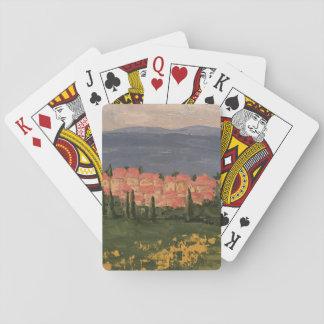 Jeu De Cartes Peinture de la Provence France sur des cartes de