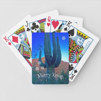 Jeu De Cartes Personnalisez les cartes de jeu de Noël de cactus