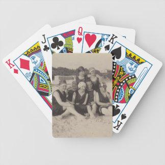 Jeu De Cartes Photographie vintage du groupe de plage 1920
