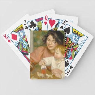 Jeu De Cartes Pierre un enfant de Renoir | avec des jouets