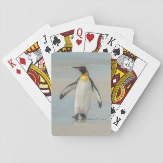 Jeu De Cartes Pingouin marchant sur la plage