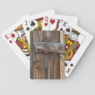 Jeu De Cartes Plan rapproché en bois de porte, la Californie