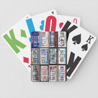 jeu de cartes plaques US