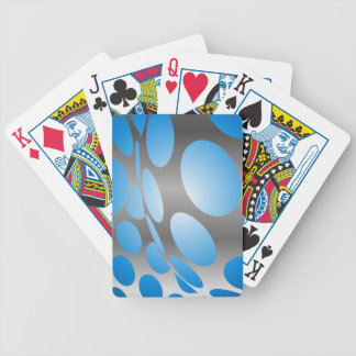 Jeu De Cartes Points bleus déformés sur l'argent