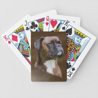 Jeu De Cartes Portrait d'art de peinture à l'huile de chien de