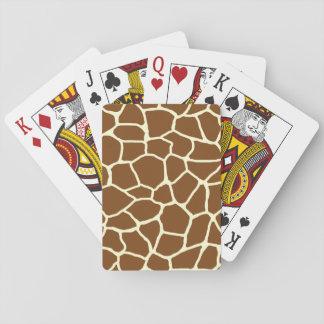 Jeu De Cartes Poster de animal sauvage de motif de girafe