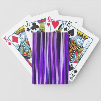 Jeu De Cartes Pourpre royal, lilas et motif rayé argenté
