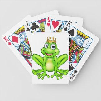 Jeu De Cartes Prince de grenouille de bande dessinée