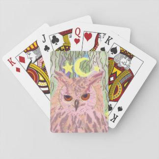 Jeu De Cartes Reine des cartes de jeu Girly de hibou de nuit