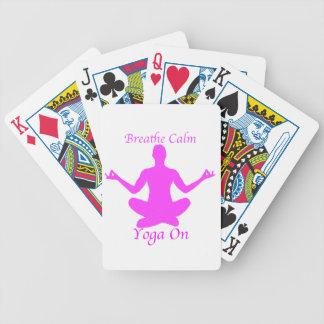 Jeu De Cartes Respirez le yoga calme sur des cartes de jeu