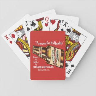 Jeu De Cartes Rétros cartes de jeu de bière d'Engelking