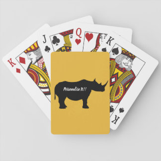 Jeu De Cartes Rhinocéros de silhouette