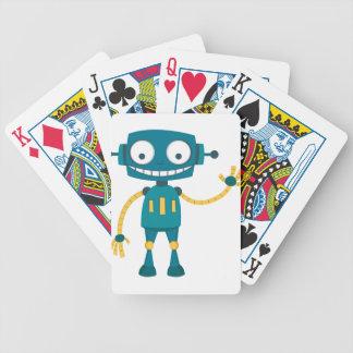 Jeu De Cartes Robot bleu