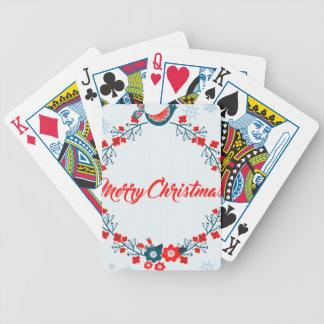 Jeu De Cartes salutation de Noël de Joyeux Noël