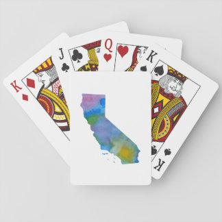 Jeu De Cartes Silhouette colorée de la Californie