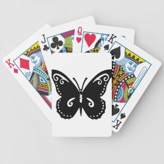 Jeu De Cartes Silhouette de papillon de Flourish