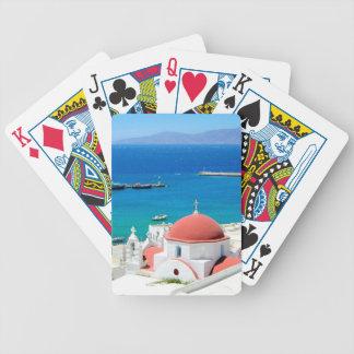 Jeu De Cartes Sommet grec d'île de Mykonos