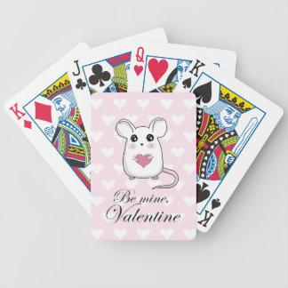 Jeu De Cartes Souris mignonne - jour de Valentines