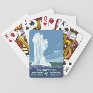 Jeu De Cartes Souvenir de parc national de Yellowstone - WPA